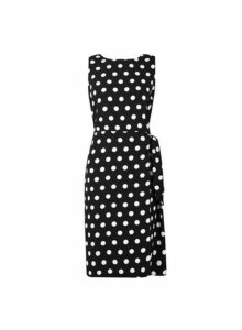 Womens Black Tie Side Pencil Dress, Black