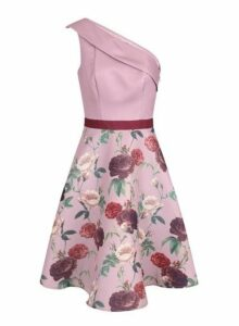 Womens *Chi Chi London Mink Floral Printed Midi Dress- Pink, Pink