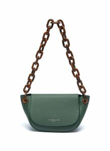 'Bend' chunky chain leather shoulder bag