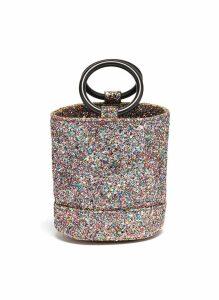 'Bonsai 15cm' coarse glitter bucket bag