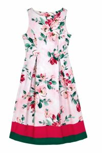 Womens Cath Kidston Pink Paintbox Flowers Cotton Sateen Dress -  Pink