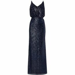 Adrianna Papell Strappy blouson sequin gown