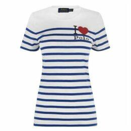 POLO RALPH LAUREN Stripe Heart T Shirt