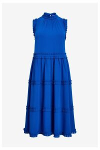 Womens Ted Baker Blue Tie Waist Dress -  Blue