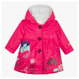 Catimini Resin Parka With Fuchsia Floral Pattern