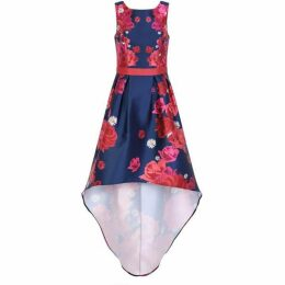 Chi Chi Floral Printed Dip Hem Dress