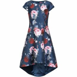 Chi Chi Floral Print Dip Hem Dress