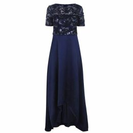 Adrianna Papell Adrianna HiLo Soutache Dress
