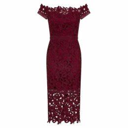 Chi Chi Bardot Crochet Bodycon Dress