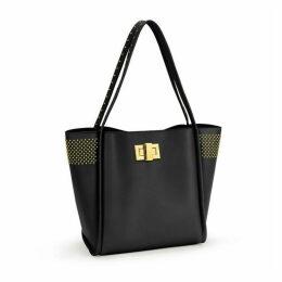Folli Follie Sleek Chic Medium Black Shopping Bag