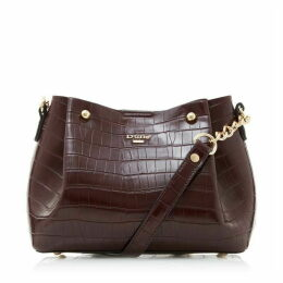 Dune Dillies Berry Faux Snake Bucket Bag