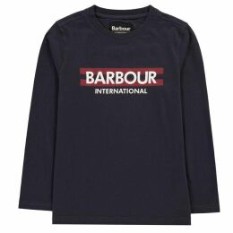 Barbour International B.Int LS Logo T Jn94