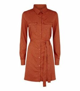 Brave Soul Orange Heart Shirt Dress New Look