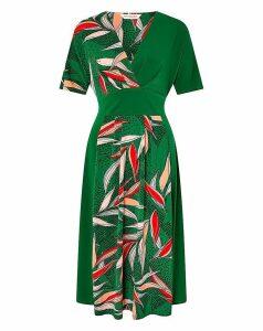 Monsoon Lorna Leaf Print Dress