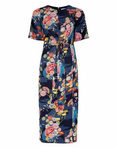 Monsoon Trudy Print Midi Dress