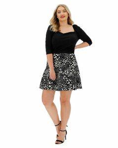 Oasis Curve Animal Print Flippy Skirt