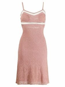 John Galliano Pre-Owned 1990's sheer panels knitted dress - Pink
