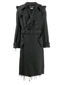 Junya Watanabe Comme des Garçons Pre-Owned pinstripe frayed trench