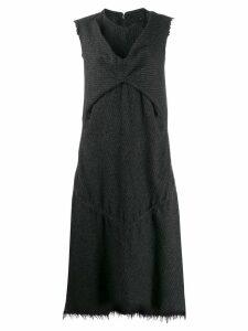 Junya Watanabe Comme des Garçons Pre-Owned pinstripe frayed dress -