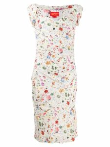 Vivienne Westwood Pre-Owned floral bustier dress - White