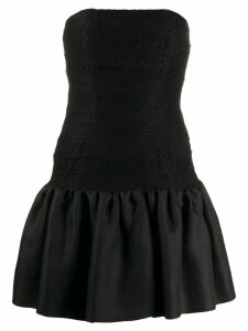 Yves Saint Laurent Pre-Owned 1980's tulle panel strapless dress -