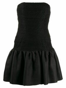 Yves Saint Laurent Pre-Owned 1980's tulle panel strapless dress -
