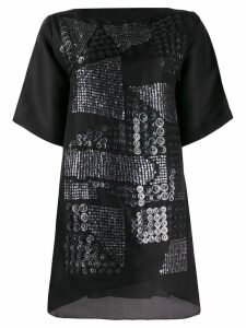 Missoni Pre-Owned asymmetric sequin embroidery T-shirt dress - Black