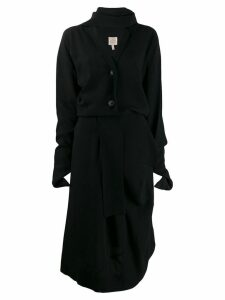 Vivienne Westwood Pre-Owned tie scarf buttoned dress - Black