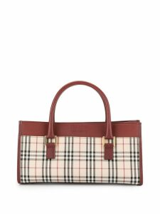 Burberry Pre-Owned Check tote bag - Red