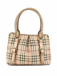 Burberry Pre-Owned check tote bag - Brown