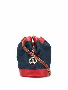 Chanel Pre-Owned Jumbo CC drawstring shoulder bag - Blue