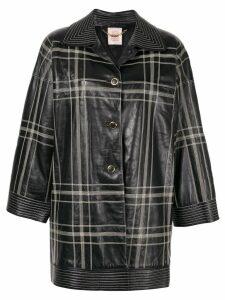 Loewe Pre-Owned Riders leather coat - Black
