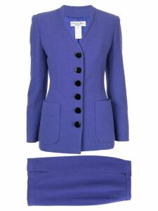 Christian Dior Pre-Owned slim skirt suit - Purple