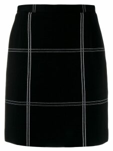Dolce & Gabbana Pre-Owned 1990's oversized check short skirt - Black