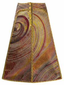 Fendi Pre-Owned 2000's abstract jacquard A-line skirt - Yellow