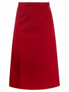 Maison Martin Margiela Pre-Owned 1990's straight midi skirt - Red