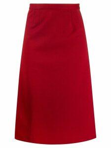 Maison Martin Margiela Pre-Owned 1990's straight midi skirt - Red