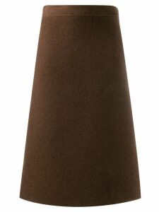 Salvatore Ferragamo Pre-Owned 1970's knee-length A-line skirt - Brown