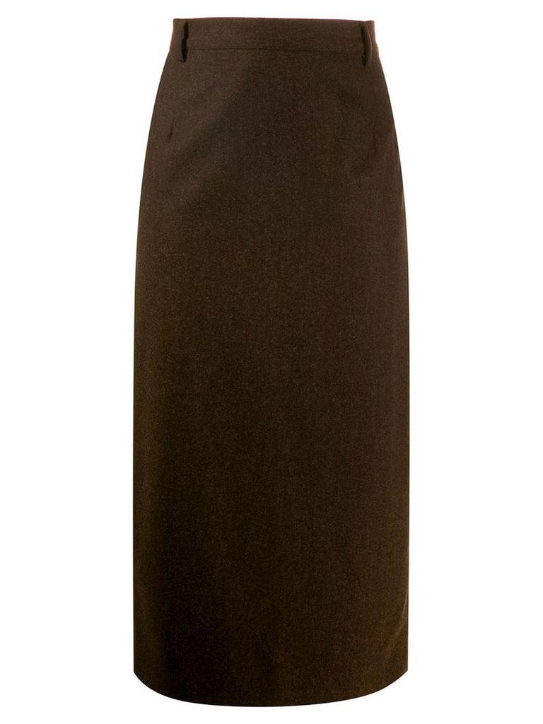 A.N.G.E.L.O. Vintage Cult 1990's Ballantyne midi pencil skirt - Brown