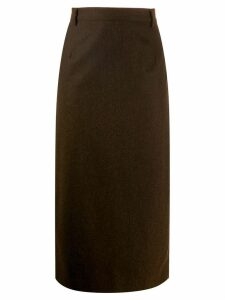 A.N.G.E.L.O. Vintage Cult 1990's Ballantyne midi pencil skirt - Brown