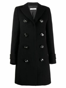 Prada Pre-Owned 1990's decorative buttons coat - Black
