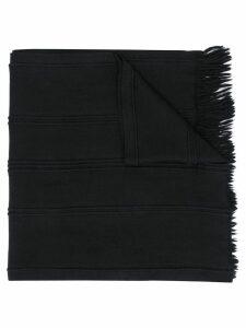 Giorgio Armani Pre-Owned 1990's fringed scarf - Black