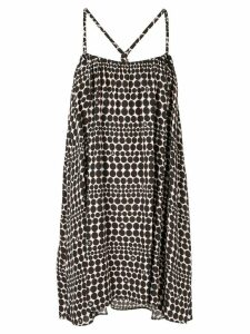 Chanel Pre-Owned optic dotted print short dress - Multicolour