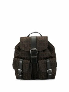 Fendi Pre-Owned Zucchino pattern backpack - Brown