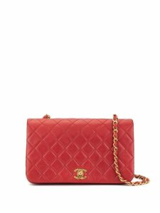 Chanel Pre-Owned quilted chain shoulder bag - Red