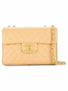 Chanel Pre-Owned quilted Jumbo XL chain shoulder bag - Brown