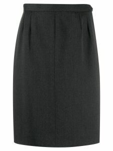 Yves Saint Laurent Pre-Owned 1980's straight skirt - Grey