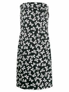 Yves Saint Laurent Pre-Owned 1980's bows print strapless dress - Black