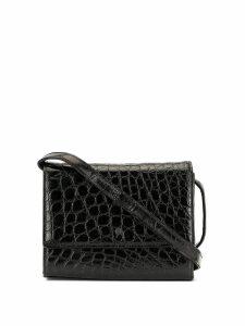 Loewe Pre-Owned crocodile effect crossbody bag - Black