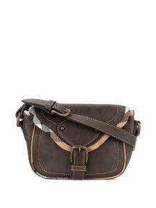 Burberry Pre-Owned checked trim handbag - Brown